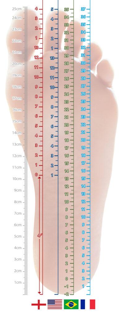 numeração sapato
