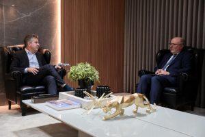 Governador Mauro Mendes recebe a visita do embaixador da Espanha - Foto por: Mayke Toscano/Secom-MT